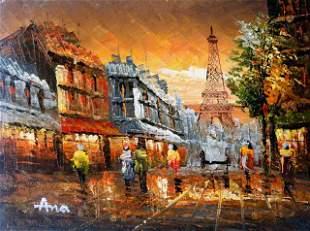 ANA ** OLD TIME PARIS ** SIGNED ORIGINAL