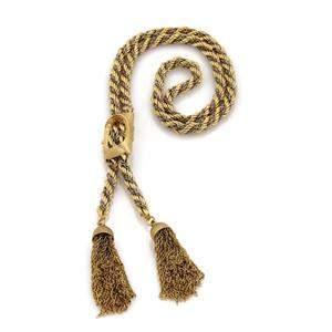 Vintage 14k Gold Multi Chain Tassel Pendant Rope