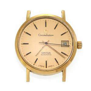 Omega Constellation Automatic Date 18k Yellow Gold