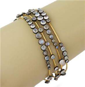 Elegant Moonstone 14k Yellow Gold Silver Set of 4