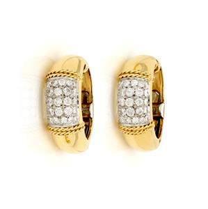Tiffany & Co. 1.00ct Diamond 18k Yellow Gold Clip