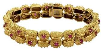 1960's Tiffany & Co. Yellow Gold 3ct Ruby Coral style