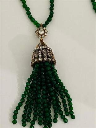GORGEOUS EMERALD CROWN NECKLACE.