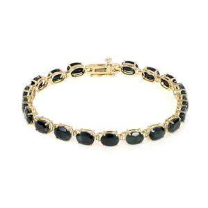 10k Yellow Gold 28.00ct Sapphire Gems Oval Link
