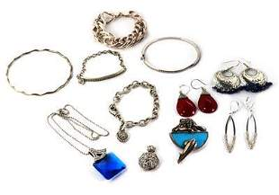 Vintage Lot of 11 Mix Jewelry 925 Sterling Silver