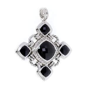 David Yurman Diamond Onyx Sterling Silver Renaissance