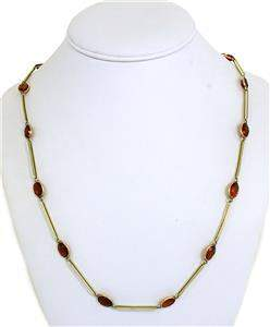 Vintage Citrine By The Yard 14k Yellow Gold Long