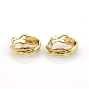 Cartier Trinity 18k Tri-Color Gold Midium Size Hoop
