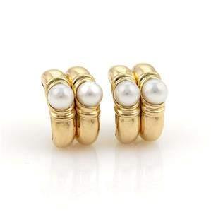 Bulgari Bvlgari Pearls 18k Yellow Gold Fancy Double