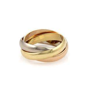 Cartier Trinity 18k Tricolor Gold 3.5mm Triple Band