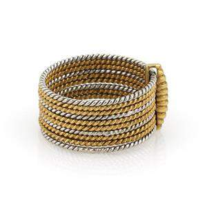 Cartier Vintage 18k Two Tone Slim Multi Wire Stack