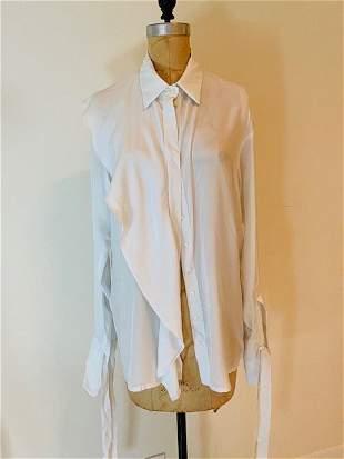 Ilaria Nistri white ruffled silk shirt size 40
