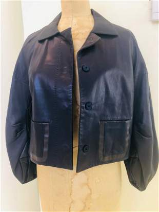 Valentino leather jacket size 8