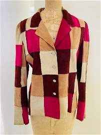 Chanel goat suede patchwork jacket size 42