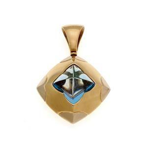 Bvlgari Bulgari Pyramid Blue Topaz 18k Yellow Gold