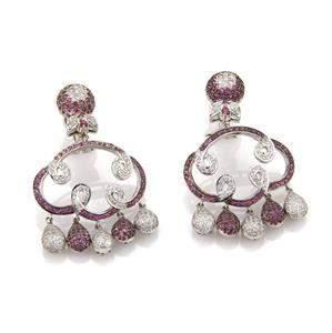 Estate 9.00 Carats Diamond Sapphire 18k WGold