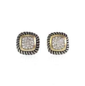 David Yurman Albion Diamonds 925 Silver 18k Gold Cable