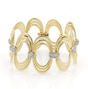 Gorgeous 1ct Diamonds 18k Yellow Gold Fancy Triple Oval