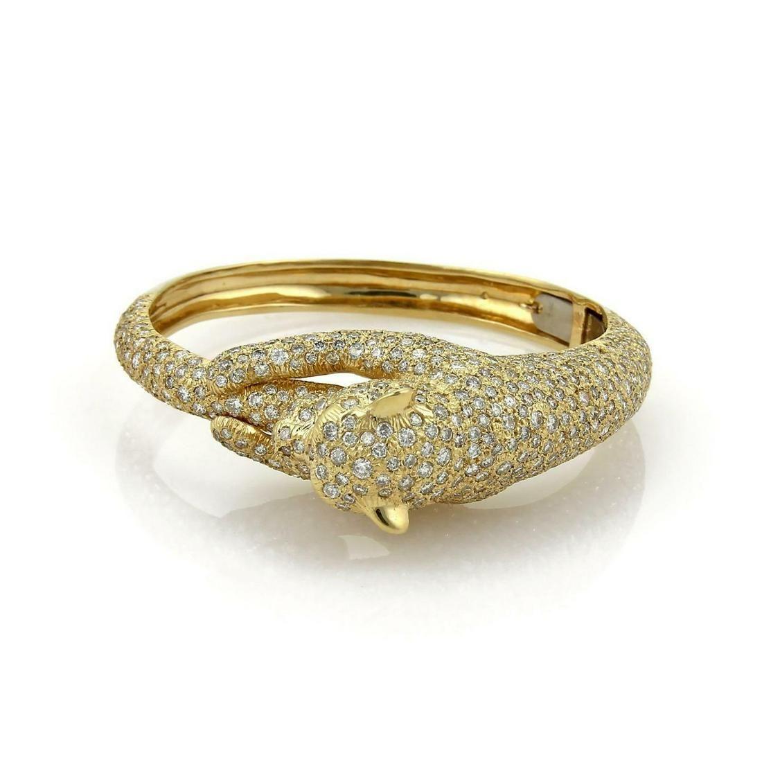 Estate 14.3ct Diamond Emerald 14k Yellow Gold Large