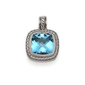 David Yurman Albion Diamond Blue Topaz Sterling Silver