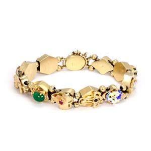 14k Yellow Gold Diamond & Gems Enamel 11 Assorted