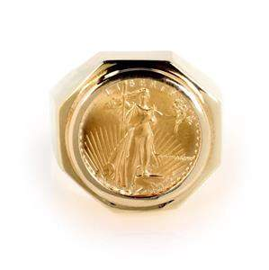 Estate 22k Gold 5 Dollar Liberty Coin 14k Yellow Gold