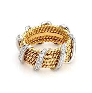 Tiffany & Co. Schlumberger Diamond 18k Gold Platinum 5