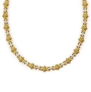 Beautiful 2.00ct Diamond 14k Yellow Gold Fancy Collar