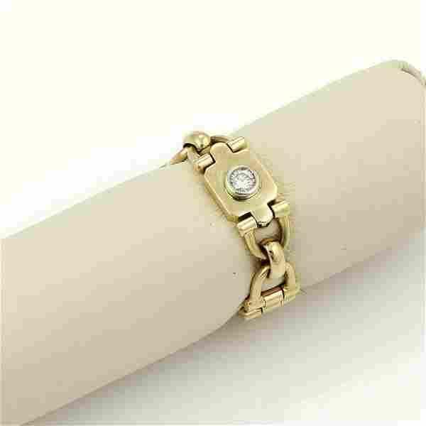 Cartier 18k Yellow Gold Diamond Stirrup Flex Link Band