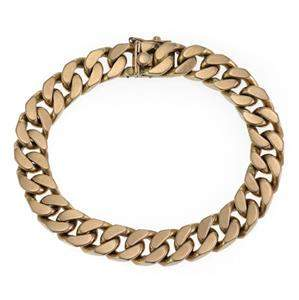 Men's 14k Yellow Gold Large Cuban Curb Link Chain
