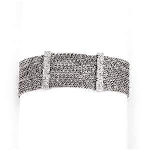 18k White Gold 1.50ct Diamond Multi-Chain & Bar Wide