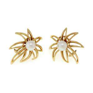 Tiffany & Co. 1994 Fireworks Pearls 18k Yellow Gold