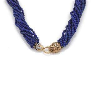 Vintage 14k Gold Diamond Lapis Ruby & Sapphire