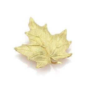 Tiffany & Co. 18k Yellow Gold Large Maple Leaf Brooch