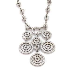 18k Gold 5.00 Carats Diamond Triple Circular Drop