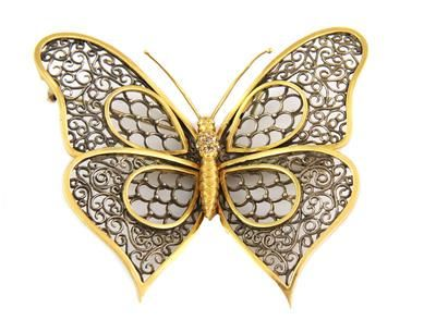 Antique Rose Cut Diamond 18k Gold Filigree Large