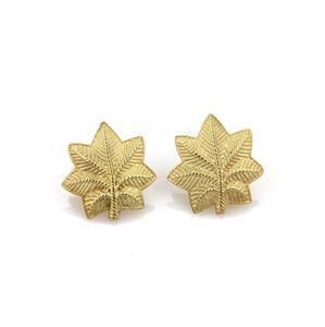Tiffany & Co. Vintage 18k Yellow Gold Leaf Stud