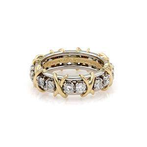 Tiffany & Co. Schlumberger 16 Diamond Platinum 18k Gold