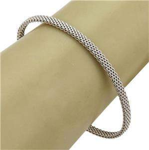 Tiffany & Co. Somerset 18k White Gold 4mm Wide Mesh