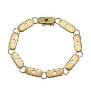 "Henry Dunay 18k Yellow Gold Bar Link Bracelet 8.25"""