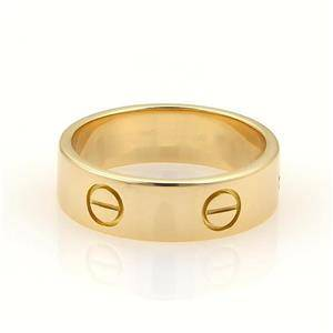 Cartier Love 18k Yellow Gold 5.5mm Wide Band Ring Size