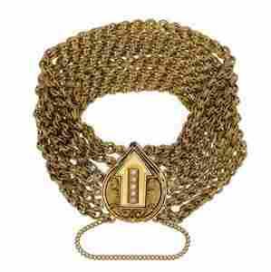 Victorian Pearls 14k Yellow Gold Arrow Enhancer 6