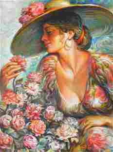 ARKADY ** SMELL THE ROSES ** SIGNED ORIGINAL