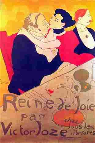 TOULOUSE LAUTREC ** RENE DE JOLE ** GICLEE ON CANVAS