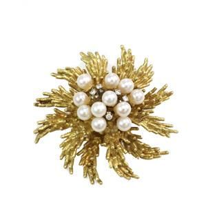 Tiffany & Co. Vintage Diamond Pearls 18k Yellow Gold
