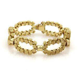Gorgeous 18k Yellow Gold Oval Rosette Link Chain
