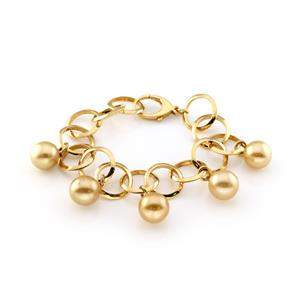 18k Yellow Gold 13mm South Seas Gold Pearl Charms