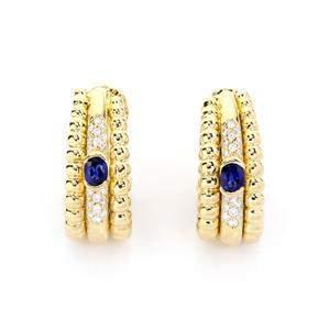 Piaget 1.30ct Diamond & Sapphire 18k Gold Triple Row