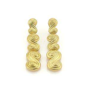 Tiffany & Co. SPIRO 18k Yellow Gold Spiral Drop Dangle