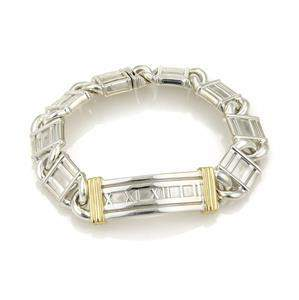 Tiffany & Co. ATLAS Numeral Sterling 18k Gold Curved